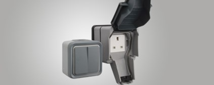 Plexo IP 55 and IP 66 weatherproof wiring accessories