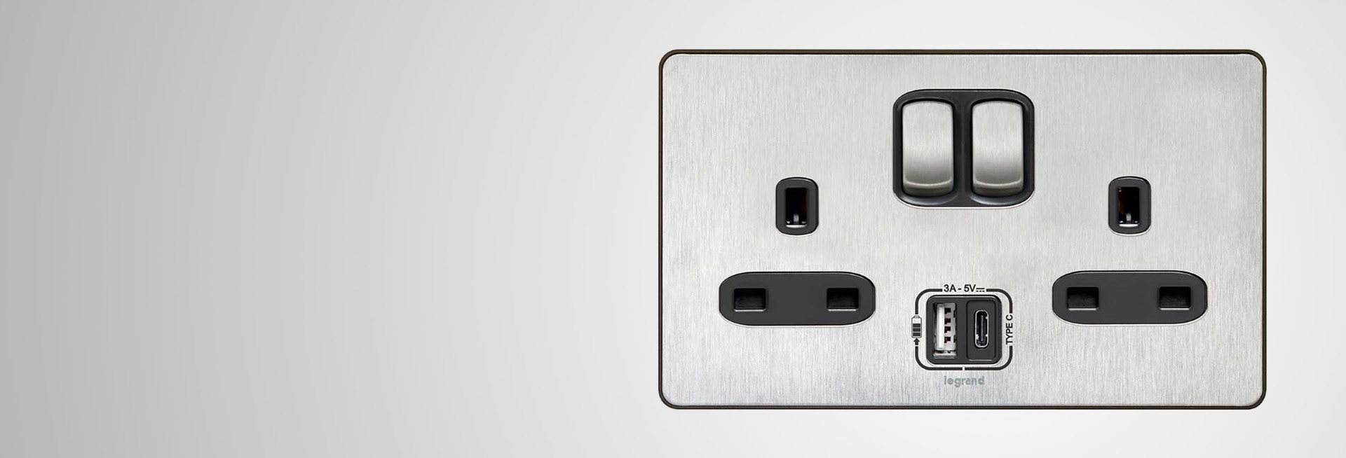 Legrand premieres 13A socket with integrated USB Type-C outlet